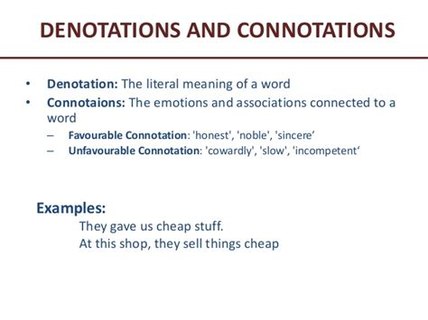 exle of denotation barriers to communication
