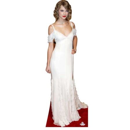 Life Size Taylor Swift Cut Out For Sale | taylor swift in white dress cardboard cutout 482