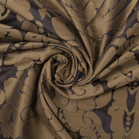 Traditional Floral Damask Satin Coordinating Stripe