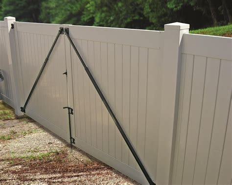 fence kits gate anti sag kit black gate hardware vinyl fence accessories