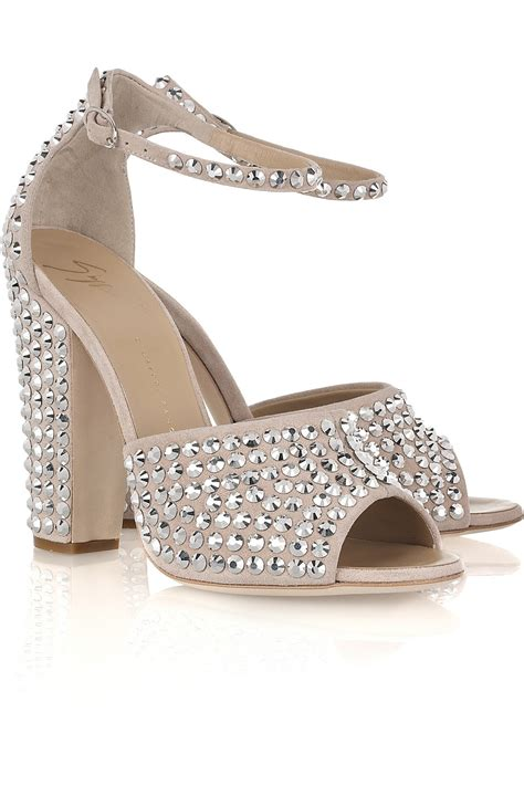 Joke Sandals From Faith by Giuseppe Zanotti Embellished Suede Sandals In