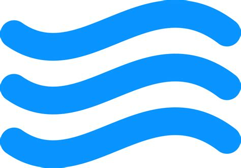 clipart simple water icon 3