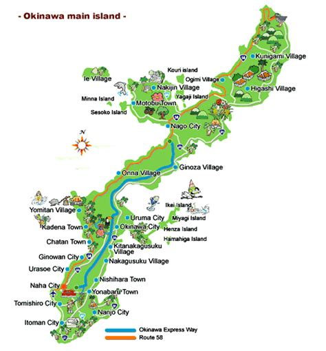 okinawa map travel to okinawa island top 10 best places fecielo