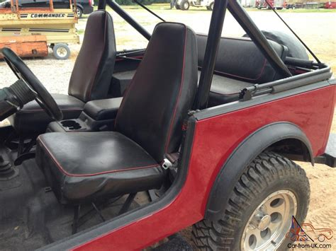 Jeep Upholstery jeep cj7 1981 exterior rino lined interior new upholstery
