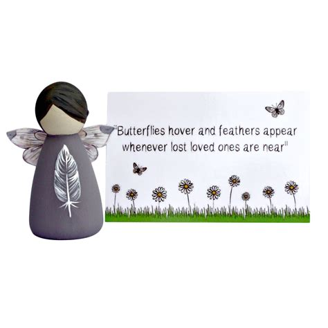 feather bereavement gifts fairy peg doll lotty lollipop