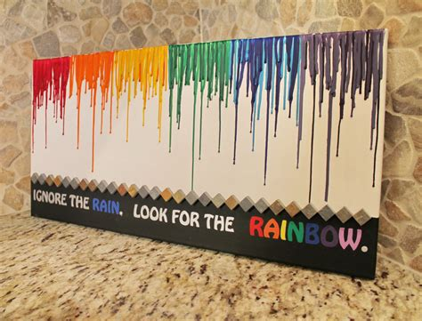 crayon sayings melted crayon with rainbow and quote by crayonjunkie