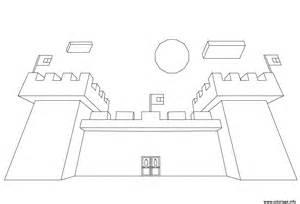 coloriage minecraft chateau jecolorie com