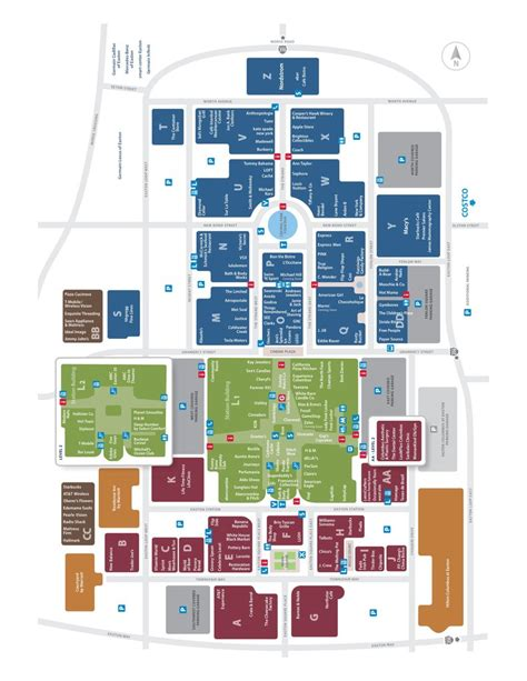 layout of polaris mall easton town center maplets