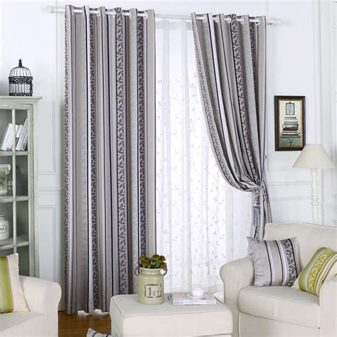 striped drapes window treatments curtains blackout geometric blind jacquard thread curtain