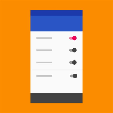 pattern ideas for android settings patterns material design guidelines
