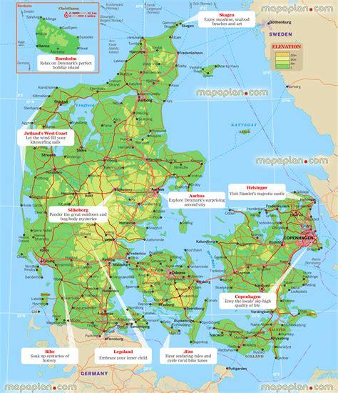 denmark on map maps update 15101600 copenhagen tourist map copenhagen