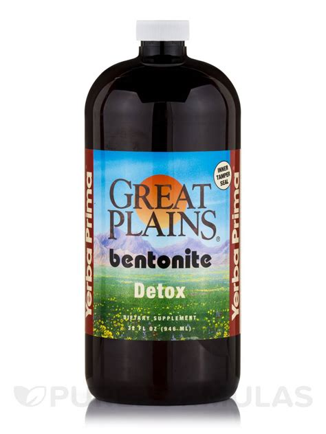 Great Plains Bentonite Detox Capsules by Great Plains 174 Bentonite Detox 32 Fl Oz 946 Ml