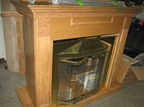 fireplace mantel surround and screen kit diggerslist