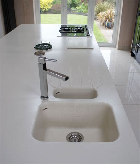 Corian Moulded Sink Joinery Kitchen Fitter In Warrington Cheshire