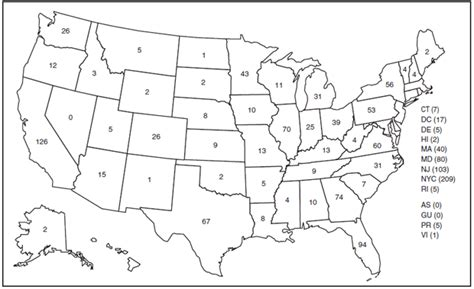printable map of the united states with numbers blank us map with numbers