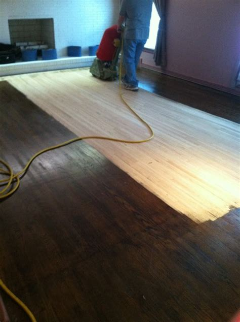Restaining Wood Floors by Dustless Sanding And Restaining Traditional Hardwood