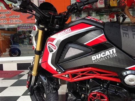 Ducati Monster S4r Aufkleber by Ducati Monster Aufkleberset Msx Grom
