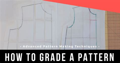 pattern grading cut and spread grading a sewing pattern