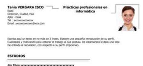 Modelo De Curriculum Vitae Experiencia Y Con Estudios Modelos De Curr 237 Culum Vitae Para Estudiantes Digischool Documentos
