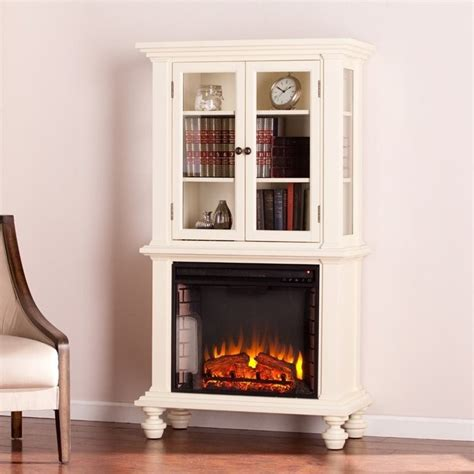electric fireplace with bookcases southern enterprises townsend electric fireplace bookcase