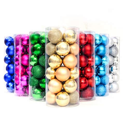 light matt glitter christmas xmas balls 4cm 6cm 8cm