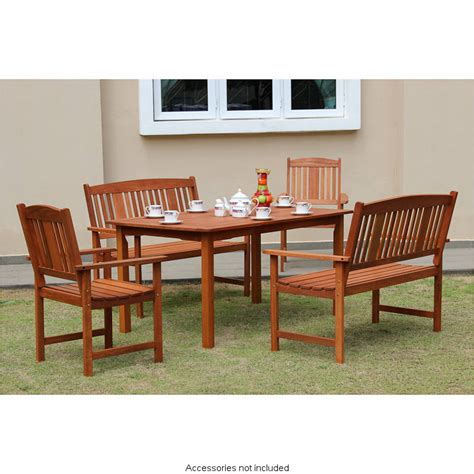 Wood Patio Furniture Sets Jakarta Wooden Patio Set 5pc Garden Outdoor Furniture