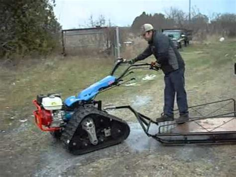 bcs tractor equipement rubber track youtube