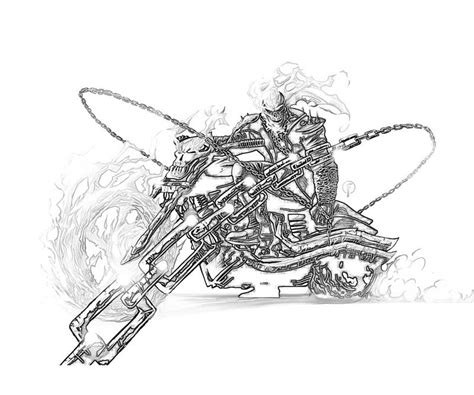 free coloring pages of ghost rider