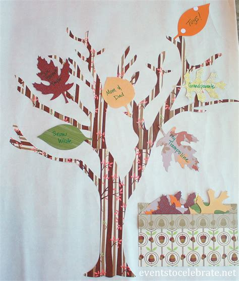 crafts trees thankful tree thanksgiving craft events to celebrate