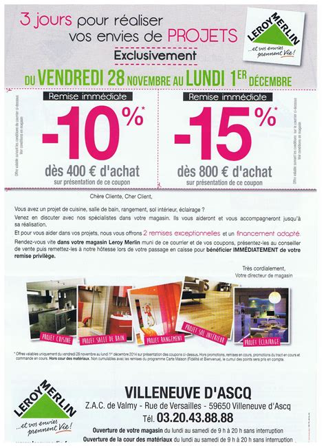 carte leroy merlin banque accord 3 jours exclusifs 15