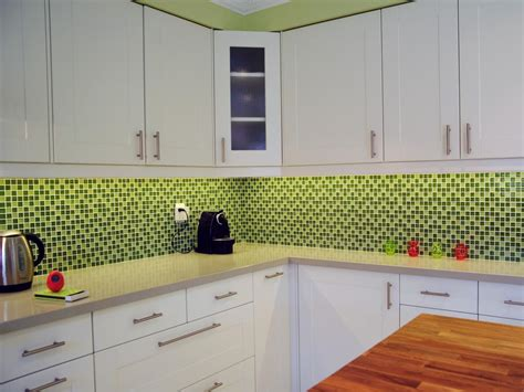 green backsplash kitchen 30 colorful kitchen design ideas from hgtv kitchen ideas