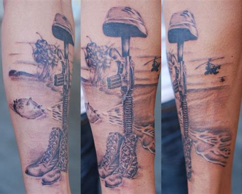 military memorial tattoos soldier memorial army