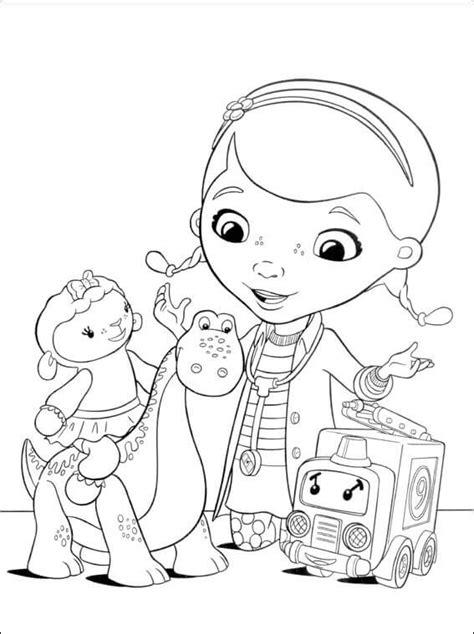 doc mcstuffins toys coloring pages free printable doc mcstuffins coloring pages
