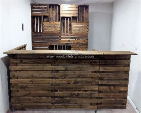 made out of wood pallets bar made out of recycled shipping pallets wood pallet