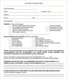 therapy intake form template intake forms free