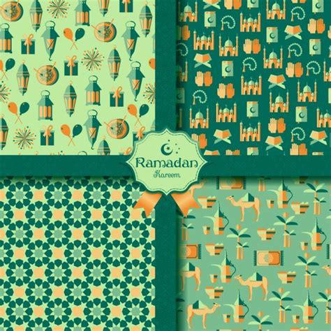 ramadan pattern vector happy ramadan patterns set vector free download