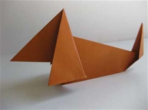 Origami Weiner - origami origami dachshund