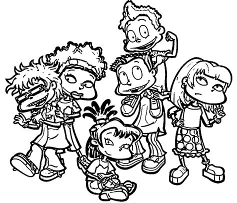 rugrats coloring pages rug rats all grown up rugrats all grown up coloring page