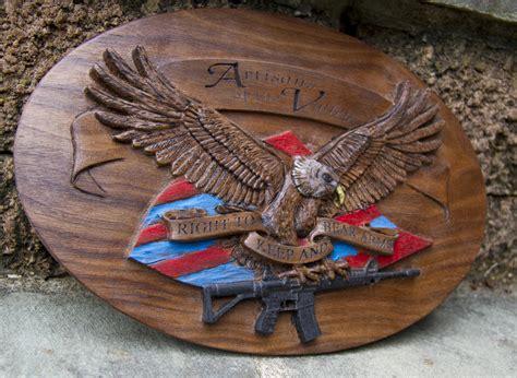cnc carved patriotic eagle  eric  saperstein