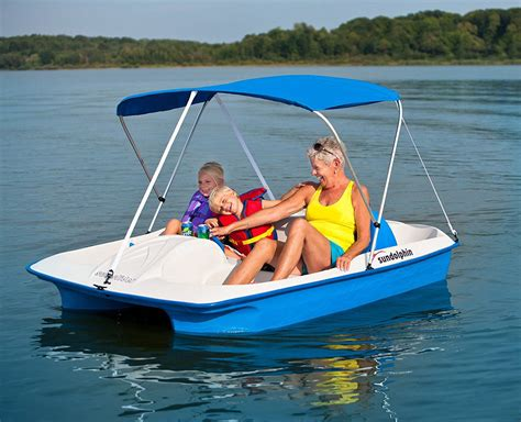 paddle boat rentals ta sun dolphin sun slider 5 seat pedal boat with canopy the