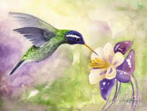 Hummingbird flower painting canvas prints and hummingbird flower