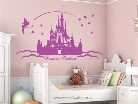princess castle wall sticker large personalised princess castle wall stickers