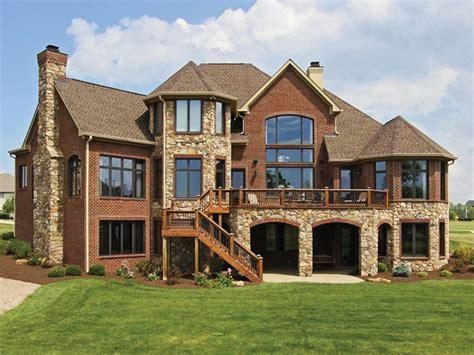 blue brick house houses  brick  stone house plans