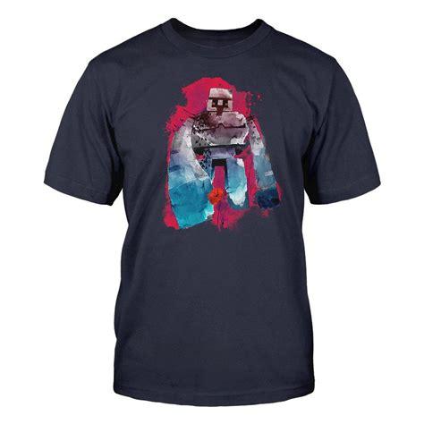 golem on t shirt official minecraft mine craft t shirt iron golem t shirt