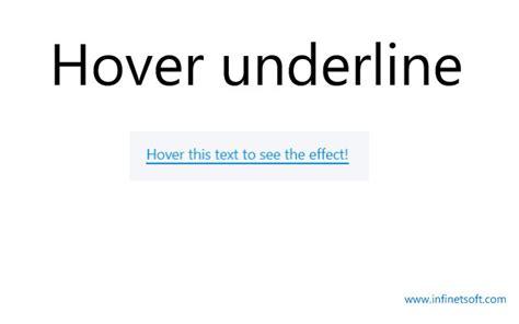 css underline color hover underline text effect css exles