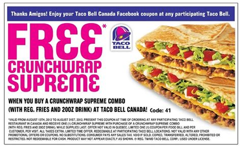 Where Can I Buy Taco Bell Gift Cards - coupon manufacturers 2017 2018 best cars reviews