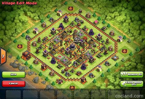 coc new layout th10 clash of clans guide hypercube x 275 walls th10