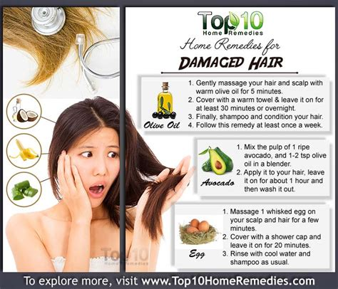 hair home remedies home remedies for damaged hair top 10 home remedies