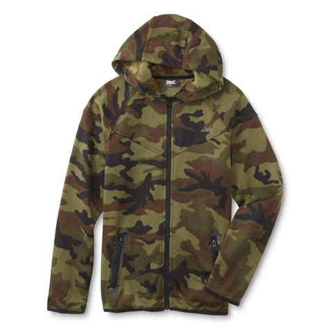 Camouflage Hooded Jacket everlast 174 boy s hooded fleece jacket camouflage