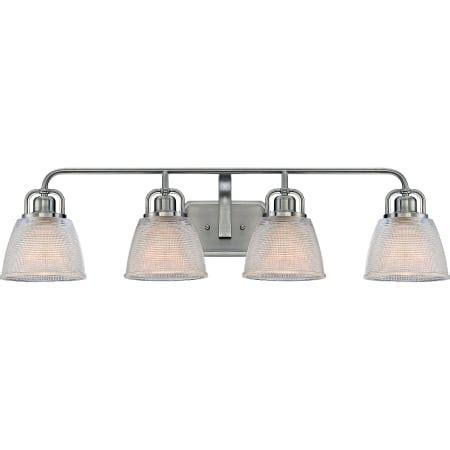 bathroom lighting dublin quoizel dbn8604bn brushed nickel dublin 4 light 35 quot wide